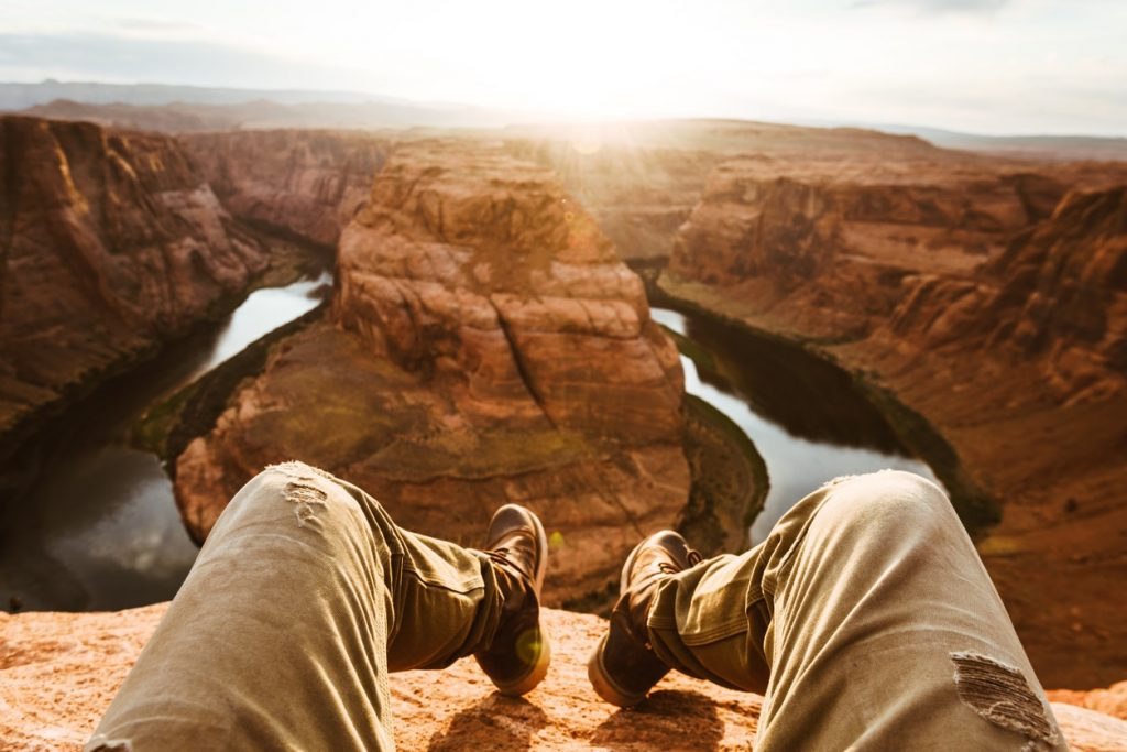 Man on Horseshoe bend